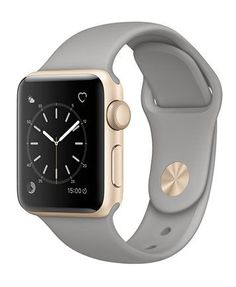 <3 Pin it and win a trip to New York, Barcelona, Berlin, Rome or London. - Apple Watch Series 2 38mm Gold Aluminum Case with Concrete Sport Band - Fashion Jewelry - Jewelry & Watches - Macy's