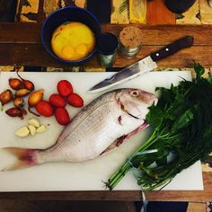 herb stuffed fish cooked inside 2kg of rock salt ... weekend delight!!  (Message us for Recipe!)