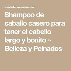 Shampoo de caballo casero para tener el cabello largo y bonito  ~ Belleza y Peinados