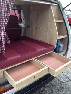 The Camper Shak – Hand Crafted VW Camper Interiors - Vanlife & Caravan Renovation Vw T3 Camper, Kombi Motorhome, Camper Van, Campers, Camper Beds, Hippie Camper, T4 Camper Interior Ideas, Campervan Interior, Interior Design