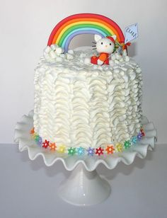 I love everything about this Hello Kitty rainbow cake.