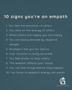 Ten signs you're an empath. Empath Traits, Intuitive Empath, Personalidad Infp, What Is An Empath, Being An Empath, Empathy Quotes, Intuition Quotes, Kindness Quotes, Wisdom Quotes