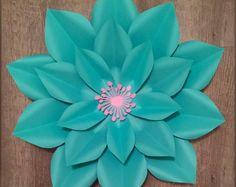 Plantilla de flor de papel #4