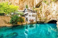 There are so many pretty places to see in this world, but Blagaj truly lives up to the good-looking hype. Be transported back in time to a place where the air feels cleaner and there's a. New Travel, Travel Goals, Summer Travel, Time Travel, Oh The Places You'll Go, Places To Visit, Bosnia Y Herzegovina, Europe, Roadtrip