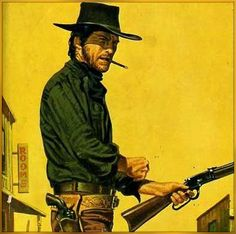 Clint Eastwood - Cowboy Horse, Cowboy Art, Cowboy And Cowgirl, Old West, Westerns, Pop Art Wallpaper, Western Comics, Western Film, West Art