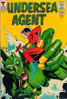 Cap'n's Comics: Undersea Agent #4 Cover by Gil Kane