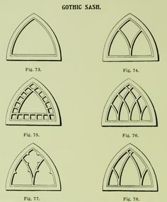 Gothic sash windows from 1904 Rockwell Millwork catalog.