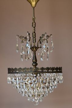 free economy delivery home living ornate fixture art nouveau antique french vintage crystal chandelier lamp lighting