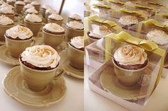 Bolo de xícara para lembrança do chá de panela! | Lembrancinhas de Casamento