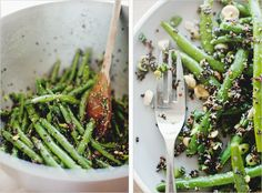 GREEN BEAN + BLACK QUINOA SALAD // Serves 4-6
