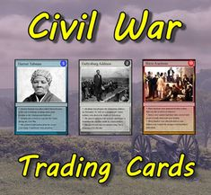 Civil War Trading Cards (US History)