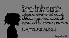Tolleranza - la vita è da onorare!!