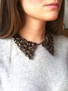 rosette collar necklace #details #rosettes #collars #accessories #jewelry #fashion