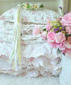 Roses and pillows