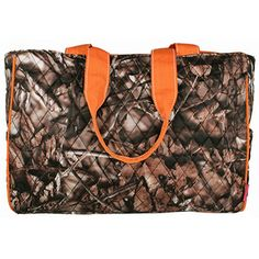 $15.50 Quilted BNB Natural Camo™ Diaper Bag with Orange Trim.....can have name embroidered on it......LOVE!