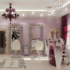 Hair salons on pinterest salons mirror and beauty salons - Decoration salon vintage ...