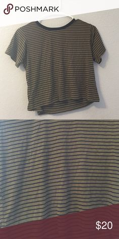 John galt military green top Striped. New no tags. I have multiples of this. No trades!! A little cropped Brandy Melville Other