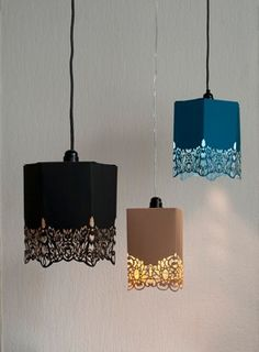 Lacy Hanging Lights : inge simonis paper lamp