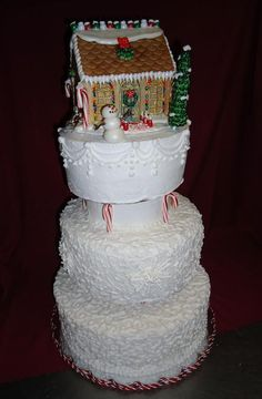 cascading Christmas, gingerbread house