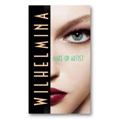 Makeup artist business card cores cartes de visita e negcio reheart Choice Image