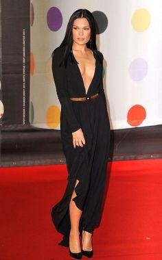 Holy wow, Jesse J, not so subtle black dress!