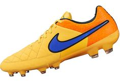 Nike Tiempo Legacy FG - Orange and Volt. Shop for yours at www.soccerpro.com today.