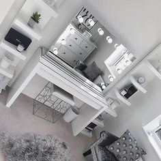 Scarlett Large Hollywood Mirror - Effective pictures we provide you about diy home decor A high-quality image can tell you many th - Bedroom Decor For Teen Girls, Cute Bedroom Ideas, Cute Room Decor, Room Ideas Bedroom, Girl Bedroom Designs, Teen Room Decor, Silver Bedroom Decor, Ladies Bedroom, Wall Decor