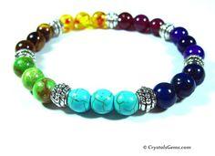 Mixed Crystals Chakra Bracelet – Crystals Gems