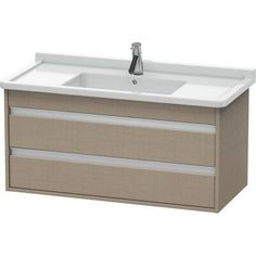 Duravit Duravit Ketho 39 x 18 Wall-Mounted Vanity Unit, designed by Christian Werner Base Finish: Linen Duravit, Clear Acrylic Nails, Short Gel Nails, Bathroom Vanity Base, Wall Mounted Vanity, Vanity Units, Gel Nail Designs, It Is Finished, The Unit