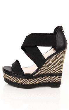 Deb Shops open toe #aztec #print #wedge $27.67