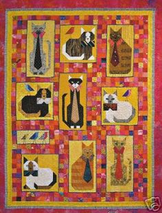 Cats with Ties Quilt Pattern