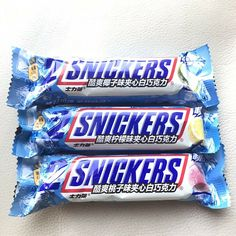 """Remark : """" New Snickers bar flavors in Asia limited edition, not available in USA! Peach, lemon and coconut flavors."""