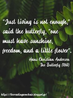 Quote from Hans Christian Andersen, taken from the story The Butterfly I Capture The Castle, The Graveyard Book, Pippi Longstocking, His Dark Materials, A Wrinkle In Time, Secrets Of The Universe, Good Night Moon, Hans Christian, The Little Prince