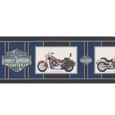 Harley Davidson Wallpaper Border Flames Prepasted Wall