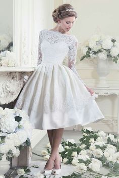 Beautiful Knee Length Wedding Dresses