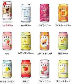 Horoyoi - Japanese low alc soda that comes in many many different flavors