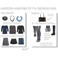 """Wardrobe essentials - basics and key pieces"" by silverwild on Polyvore"