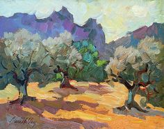 Saint Remy Olive Trees Painting by Diane McClary Tree Canvas, Canvas Art, Canvas Prints, Abstract Landscape, Landscape Paintings, Contemporary Landscape, Landscapes, French Paintings, Tree Paintings