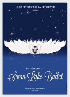 Swan Lake Ballet poster, by Clotilde Heury.