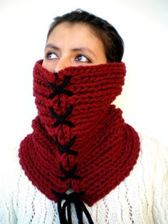 XX  Fashion   Cowl Super Soft Wool Neckwarmer Unisex by GiuliaKnit, $49.00