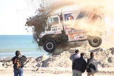 Flying Dakar Unimog