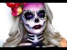 SKELETON / SKULL MAKEUP TUTORIAL | Brianna Fox - YouTube