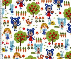 Goldilocks and the Three Bears fabric.
