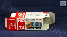 TOMICA 074E FUSO CONTAINER TRUCK | 1/102 | ORIGINAL BOX ONLY | ST7 1997 CHINA