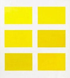 Gerhard Richter, Sechs Gelb, 1966