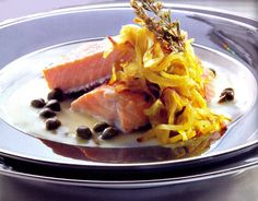 Lomos de salmón a la sidra