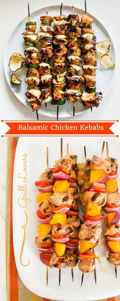 PrintGrill Lovers' Balsamic Chicken Kebabs Recipe Ingredients• 6 wooden skewers • 1 lb. boneless, skinless chicken breasts • 1 red pepper • 1 20 oz. can of pineapples slices, drained • 1/2 cup Newman's Own balsamic vinaigrette dressing, divided • 2 tsp. fresh parsley, chopped InstructionsImmerse skewers into water and set aside for 30 minutes.[...]