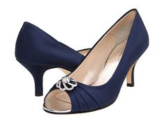 Caparros Amelia in navy blue.  My mom's pick for my wedding shoes, but they're sold out everywhere.  :(