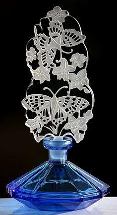 Pesnicak Extreme Beautiful Signed Blue Butterfly Floral Paradise Perfume Bottle | eBay