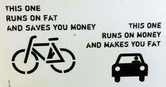 bike when possible.